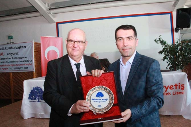 Turgut Özal Balkanlar Kolejinde anıldı! 11