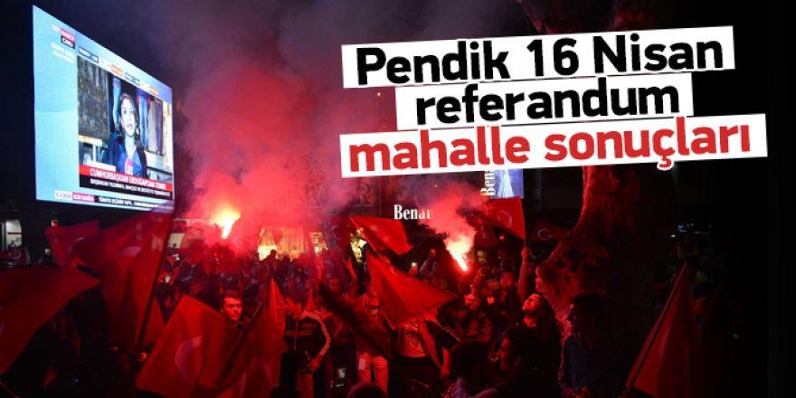 Pendik 16 Nisan Referandum Mahalle sonuçları
