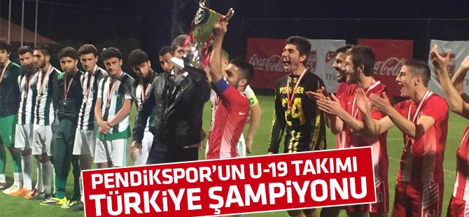 Pendikspor'un U19'ları Türkiye Şampiyonu