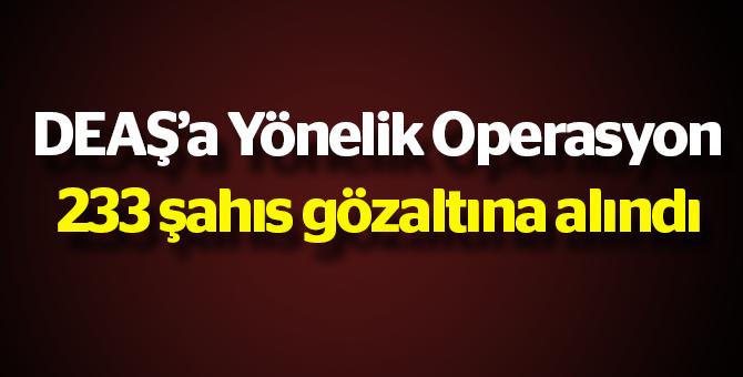 DEAŞ'a yönelik Operasyon: 233 Gözaltı var