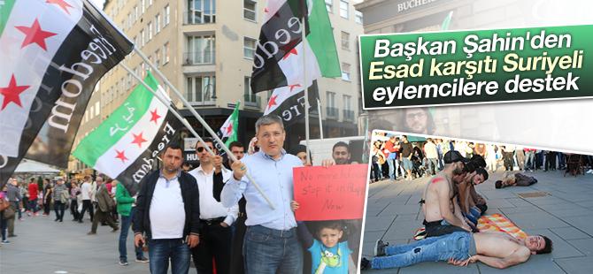 Başkan Şahin'den, Viyana'da Suriyeli Aktivistlere Destek