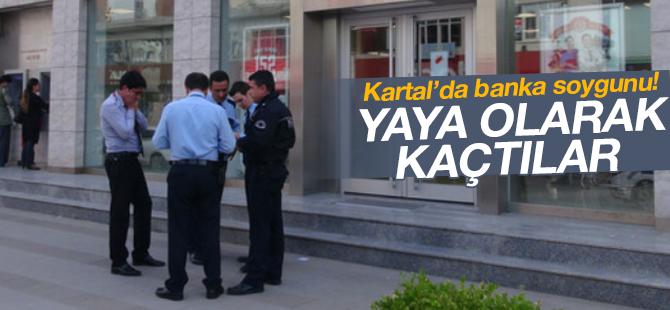 Kartal'da Banka Soygunu! 15 Bin Lirayı Çalan Soyguncular Yaya Olarak Kaçtı!