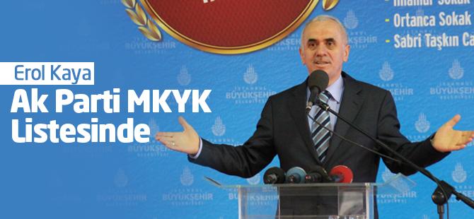 Erol Kaya AK Parti MKYK Listesinde