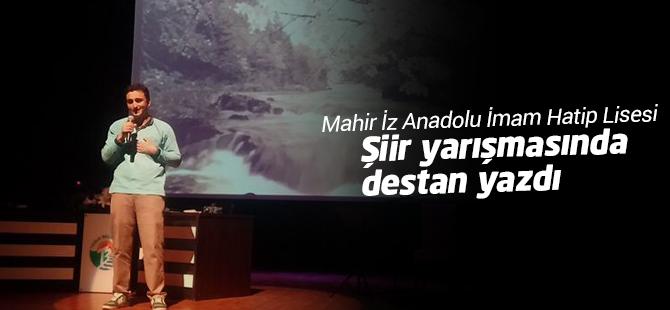 Mahir İz AİHL Şiir Yarışmasında Destan Yazdı