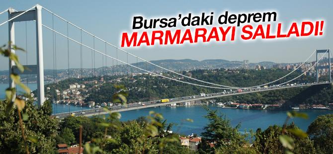 Bursa'da Meydana Gelen Deprem, Marmarayı Salladı!