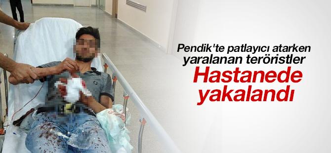 Pendik'te patlayıcı atarken yaralanan teröristler hastanede yakalandı