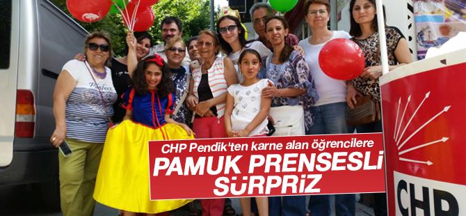 CHP Pendik'ten Karne Alan Öğrencilere Pamuk Prensesli sürpriz