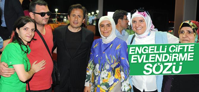 Başkan Yazıcı'dan Engelli çifti evlendirme sözü