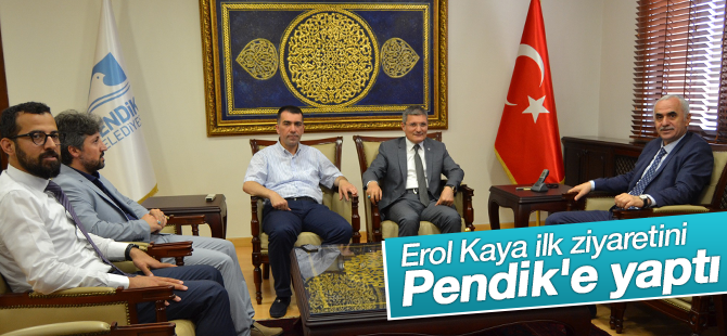 Erol Kaya İlk Ziyaretini Pendik Belediyesi'ne Yaptı