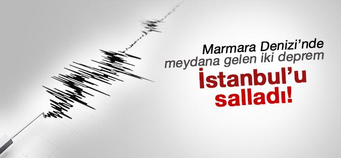 Marmara Denizi'nde meydana gelen iki deprem İstanbulluyu korkuttu!