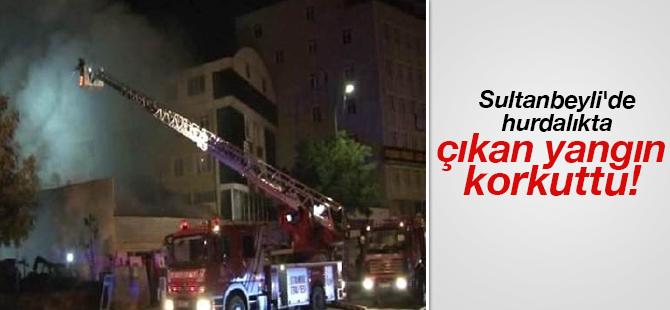 Sultanbeyli'de Hurdalıkta çıkan Yangın korkuttu