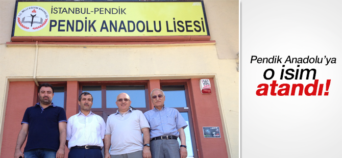 Pendik Anadolu Lisesine Halil Yıldız Atandı