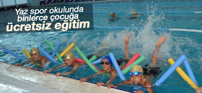 Yaz spor okulunda binlerce çocuğa ücretsiz eğitim