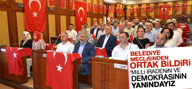 Belediye Meclisinde Ak Parti ve CHP'den Ortak Bildiri