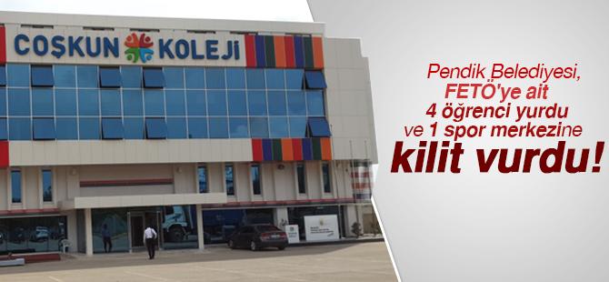 Pendik Belediyesi, FETÖ'ye ait 4 öğrenci yurdu ve 1 spor merkezine kilit vurdu!