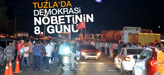 Tuzla'da demokrasi nöbetinin 8. günü