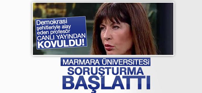 Marmara Üniversitesi Nurşen Mazıcı'yı kınadı!