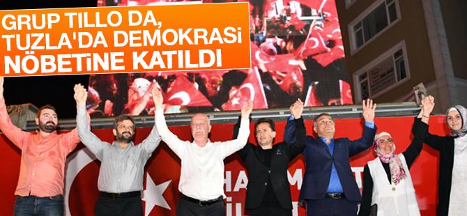 Grup Tillo da, Tuzla'da Demokrasi Nöbetine Katıldı