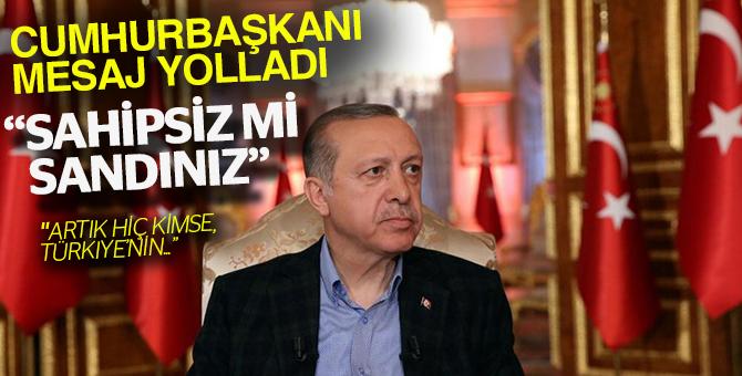Cumhurbaşkanı Erdoğan Kıbrıs için mesaj yolladı