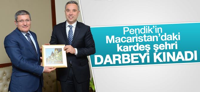 Pendik'in Macaristandaki kardeş şehri darbeyi kınadı