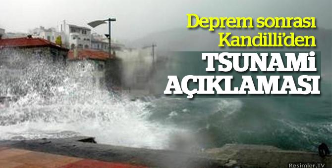 Deprem sonrası Kandilli'den tsunami açıklaması