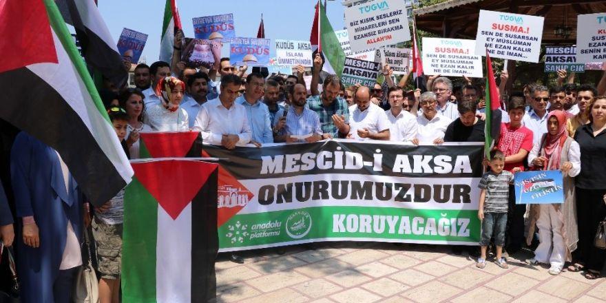 Manisa'da Kudüs için toplandılar