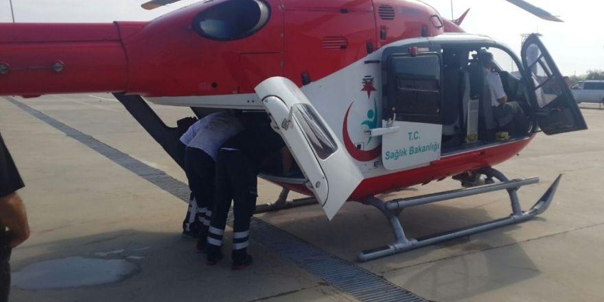 Terör gazisi hava ambulansı ile Ankara'ya sevk edildi