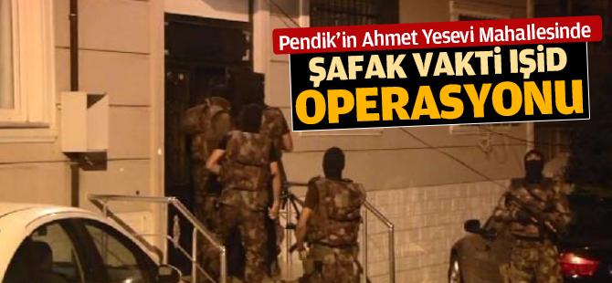 Pendik Ahmet Yesevi Mahallesinde IŞİD Opeasyonu!