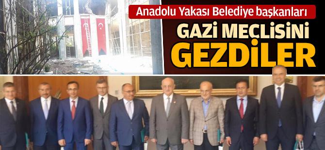 İstanbul Anadolu Yakası Belediye Başkanlarından Gazi Meclisine Ziyaret