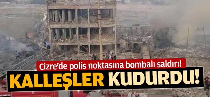 Cizre'de polis kontrol noktasına bambalı saldırı! 8 Şehit