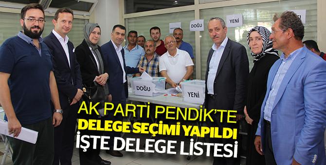 AK Parti Pendik'te Delege seçimi yapıldı! İşte delege listesi