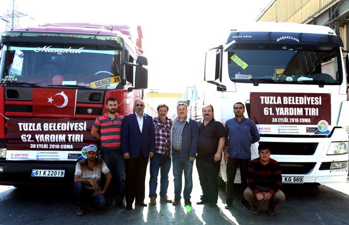 Tuzla Belediyesi'nin Yardım Tırları Hatay'a Ulaştı
