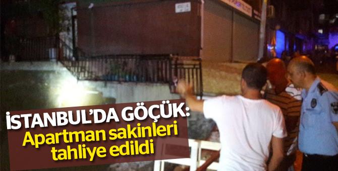 İstanbul'da Göçük: Apartman sakinleri tahliye edildi