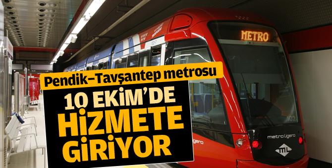 Pendik Metrosu 10 Ekim Pazartesi günü hizmete giriyor