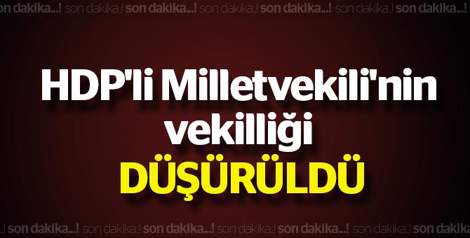 HDP'li Milletvekili'nin vekiliği oy birliği ile düşürüldü