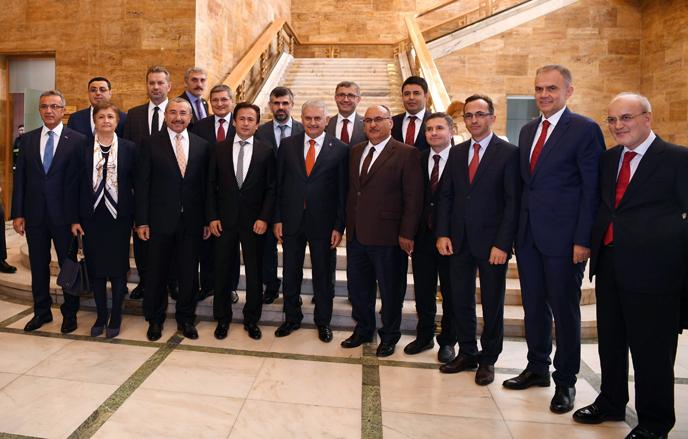Belediye Başkanları, Başbakan Yıldırım ve Bakanlarla Görüştü