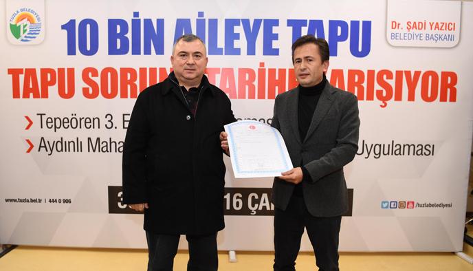 Tuzla'da 10 Bin Aile Daha Tapusuna Kavuştu
