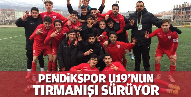 Pendikspor U19'nun tırmanışı sürüyor