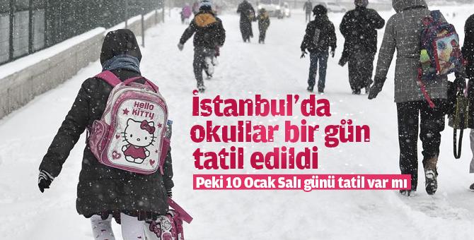 10 Ocak Salı günü İstanbul'da okullar tatil mi? İstanbul valiliği ...