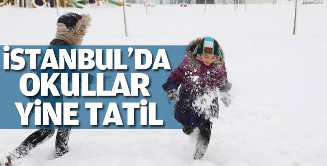 İstanbul'da Okullar yarında (salı günü) tatil edildi