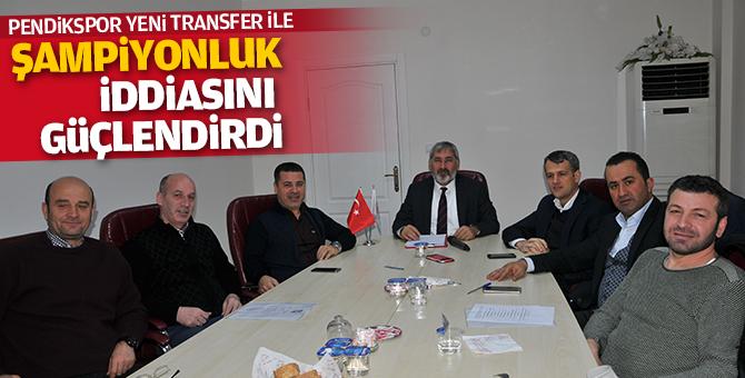 Pendikspor yeni transferler ile şampiyonluk iddiasını güçlendirdi
