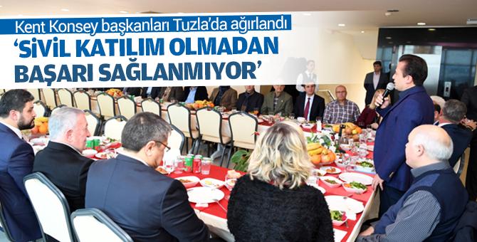 Kent Konseyi Başkanları Tuzla'da ağırlandı