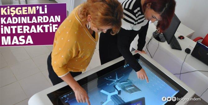 KİŞGEM'li kadınlar interaktif masa üretti