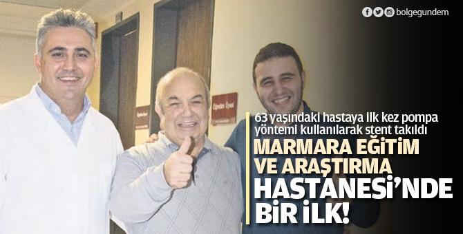 Marmara Eğitim ve Araştırma Hastanesi'nde bir ilk! 63 yaşındaki ...
