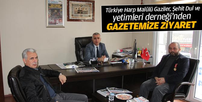Türkiye Harp Malülü Gaziler, Şehit Dul ve Yetimleri Derneği'nden gazetemize ziyaret