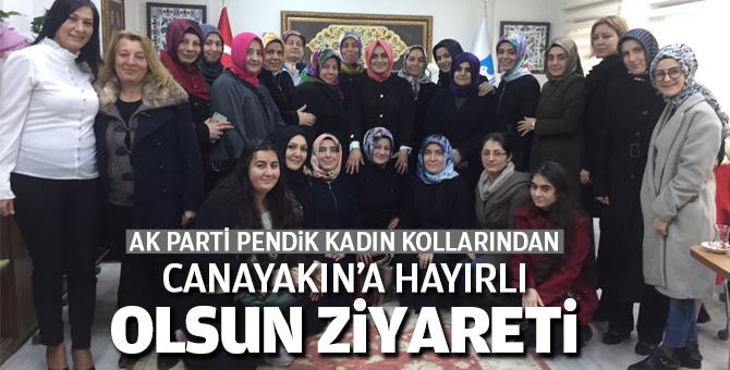 AK Parti Pendik Kadın Kollarından Canayakın'a Hayırlı olsun ziyareti