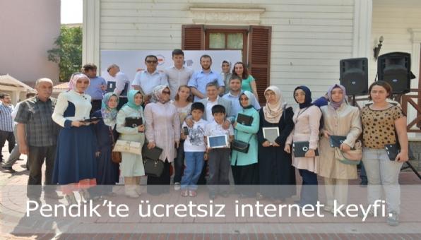 Pendik'te ücretsiz internet keyfi başladı