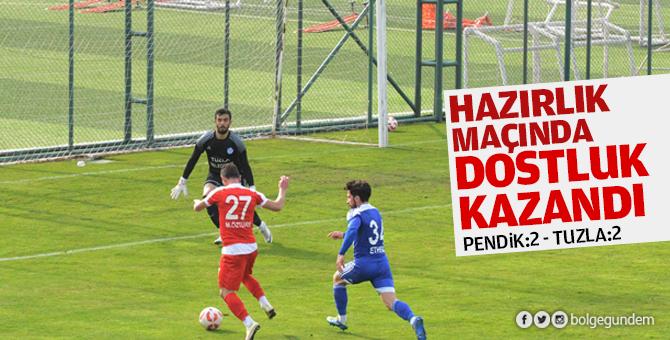 Pendikspor Hazırlık maçında Tuzlaspor ile berabere kaldı