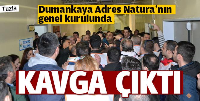 Dumankaya Adres Natura'nın genel kurulunda kavga