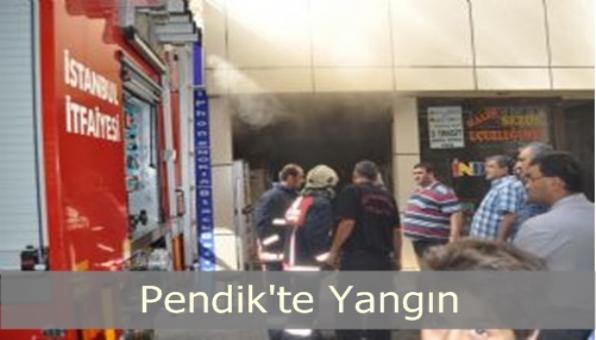 Pendik´te Bir Mağazada Yangın Çıktı